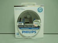 Лампа Н1 12v 55wt PHILIPS 2 шт. White Vision + 60% 4300k