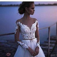 Свадебное платье кружево макраме