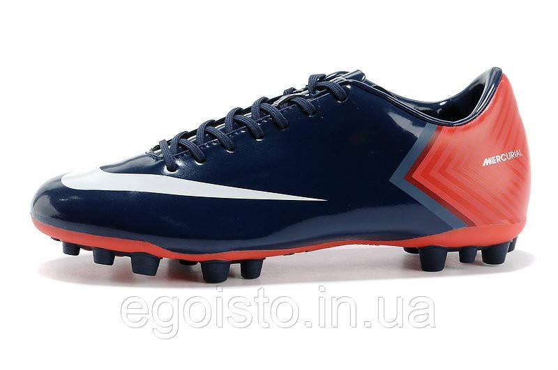 951bff65 Бутсы Nike Mercurial Vapor X AG/MG (найк) синие, цена 1 400 грн., купить в  Киеве — Prom.ua (ID#572483169)