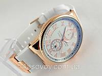 Женские часы - Ulysse Nardin - Le Locle на белом каучуковом ремешке, цвет корпуса золото, светлый циферблат