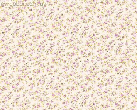 Обои светлые, в мелкий ситец фиолетового цвета 347916.