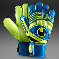 Вратарские перчатки Uhlsport Eliminator Soft - cyan/fluo yellow/black