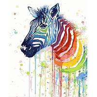 """Картина по номерам """"Акварельная зебра"""" 40х50см, Без Коробки"""