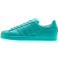 Кроссовки женские Adidas Superstar Supercolor (адидас) бирюза