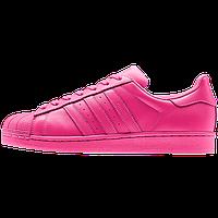 Кроссовки женские Adidas Superstar Supercolor (адидас) розовые