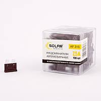Предохранители для иномарок SOLAR набор 100 шт. 7.5А цинк