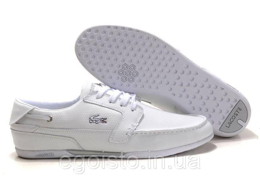 105d5923f476 Мокасины мужские Lacoste Dreyfus White (лакост) белые - Интернет-магазин  брендовой обуви