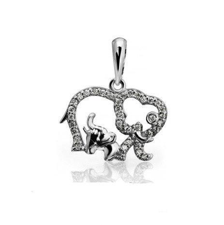 Кулон Слон и Слоник Серебро 925