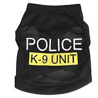 Одежда для маленьких собак жилетка Police