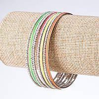 Браслет разноцветные кольца d- 6,5см этно