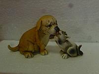 Кошка с сбакой статуэтка фигурка