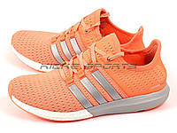 Кроссовки женские Adidas Adidas Gazelle Boost Orange/Silver/White (адидас) , фото 1