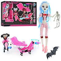 Мебель 66535MH, диван, ванна, трюмо, кукла-шарнирная 26 см, скелет,