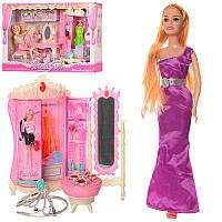Мебель 589-1-2 трюмо,шкаф,стул,кукла 29 см, аксессуары, украшения,