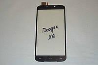 Оригинальный тачскрин / сенсор (сенсорное стекло) для Doogee X6 | X6 Pro (черный цвет) + СКОТЧ В ПОДАРОК