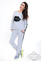 """Спортивный трикотажный костюм """"Кис"""", серый, фото 1"""