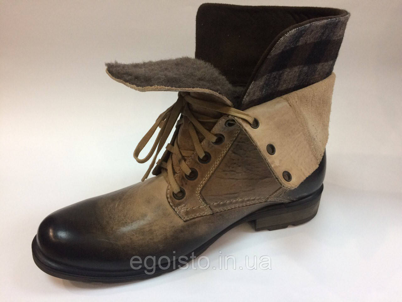e4e98fe01 Ботинки мужские Nik Boots бежевые - Интернет-магазин брендовой обуви