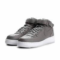 Кроссовки женские NikeLab Air Force Mid Light Charcoal/White серые 38