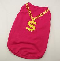 Одежда для собак шпицев футболка красная