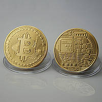 Сувенирная монета Биткоин Bitcoin золото, фото 1