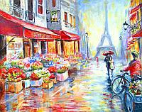 """Картина раскраска по номерам """"Весенний дождь в Париже"""" набор для рисования"""