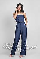Летний комбинезон из тонкой джинсовой ткани