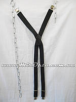 Подтяжки мужские чёрные Польша (40 мм.) купить оптом прямой поставщик