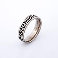 Кольцо Греческое серебристое  р-р 17-21