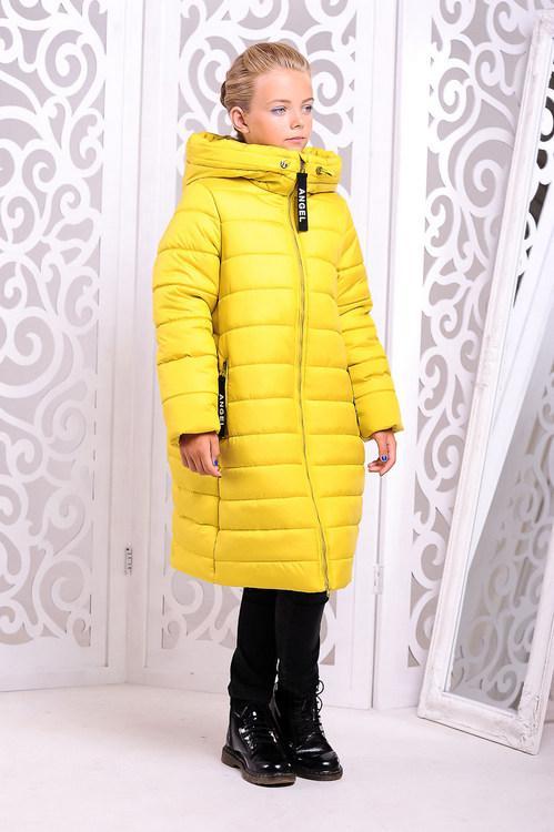 Зимнее пальто для девочки  Ангел Разные цвета