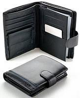 Мужской кожаный кошелек правник Boston с отделом под паспорт, фото 1