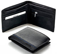 Мужской кожаный кошелек портмоне Boston на магните, фото 1