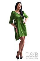 """Платье большого размера """"FREESTYLE"""" зеленое, фото 1"""