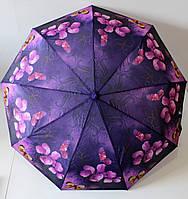 """Зонт женский автомат подарочный с цветочным рисунком от фирмы""""Flagman"""""""