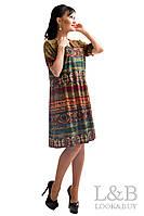 """Летнее платья """"Поли"""",зеленый мозаика, фото 1"""