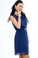 """Женское летнее платье """"Peris"""", темно-синий, фото 1"""