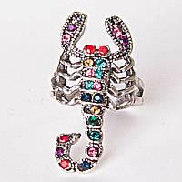 [17,18,19,20] Кольцо скорпион самоцветы ассорти 17