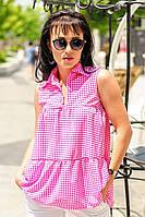 """Рубашка летняя """"Винтаж"""", розовый"""