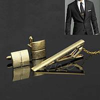 Мужские запонки и зажим для галстука