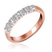 """Серебряное кольцо с камнями и позолотой """"020"""""""