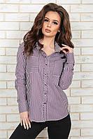 Рубашка Элиз фиолетовая полоска