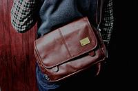 Мужская кожаная сумка. Модель 61259, фото 8