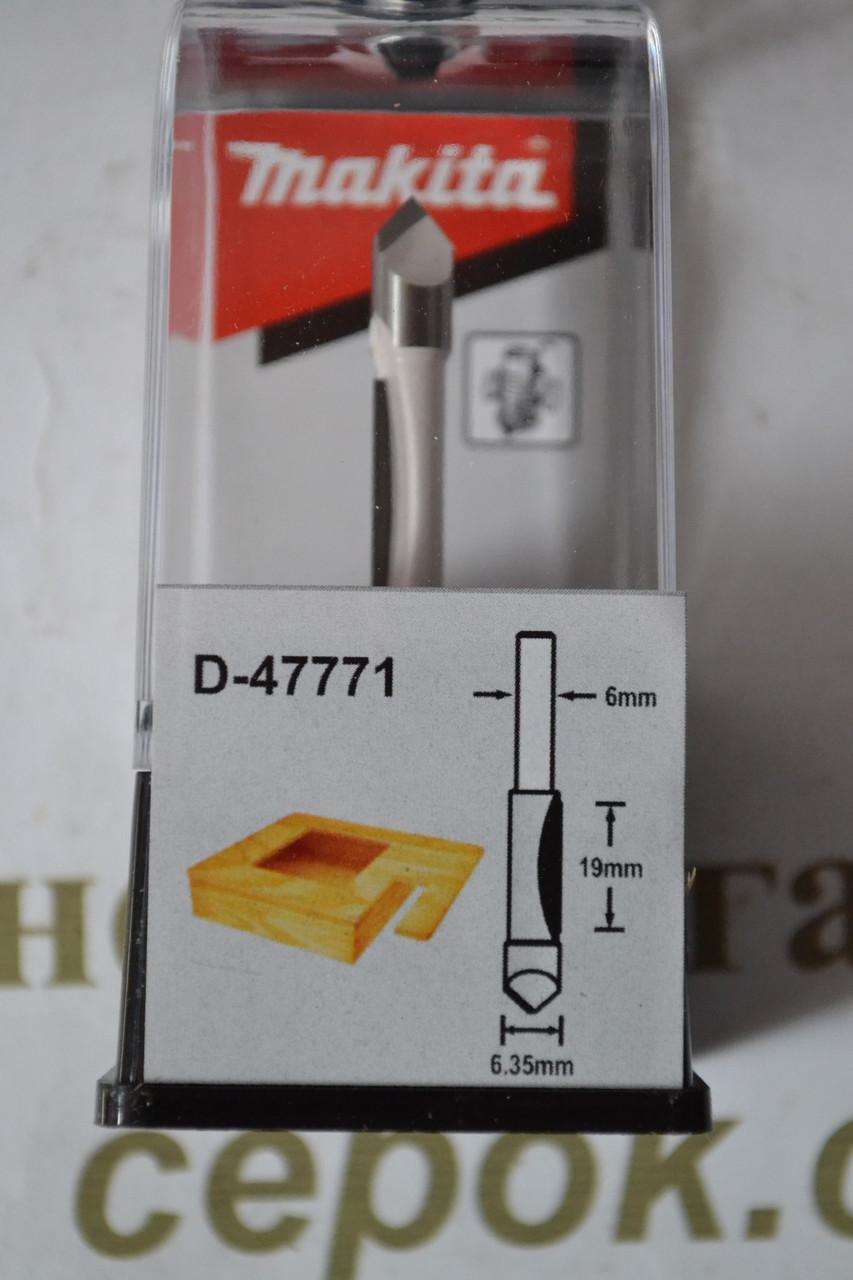 Фреза для пазів Мakita 6.35х19, цанга 6мм