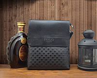 Кожаная сумка Polo Videng Черная