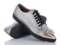 Демисезонная обувь. Женские туфли на шнуровке оптом от производителя Cinar 9081-2 (8пар 36-40)