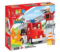 Конструктор Пожарная машина JDLT 5150. 15 деталей, световые и звуковые эффекты
