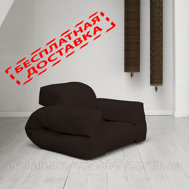 """Кресло кровать """"Hipo"""" черное , раскладное кресло,кресло диван, кресло для дома, бескаркасное кресло. - Мягкая мебель """"DFEO"""" в Павлограде"""