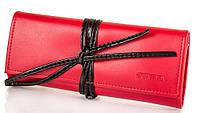 Кожаный женский дорожный футляр для драгоценностей Valenta VBX404453 красный