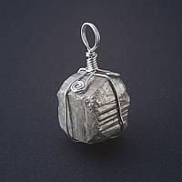 Кулон руда камень Пирит р-р25*20мм (+-5мм)