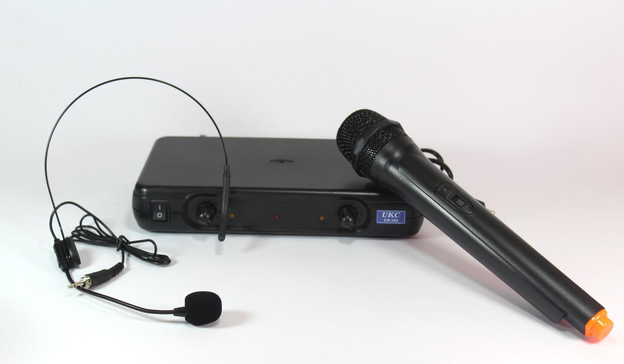 Радиосистема UKC EW-500H  радиомикрофон +гарнитура