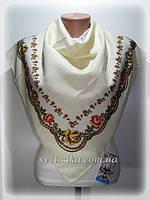 Нарядные шерстяные платки 80х80 см